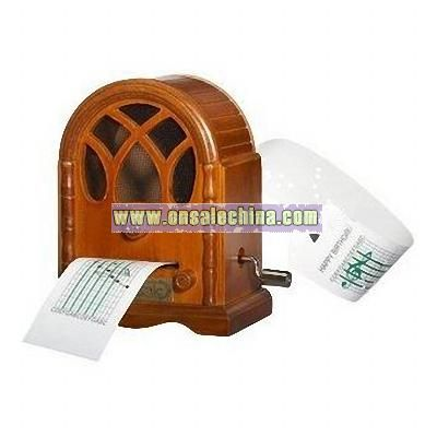 Wooden Hand-operated Radio Music Box