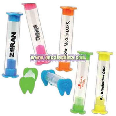 Three minute tooth shaped timers