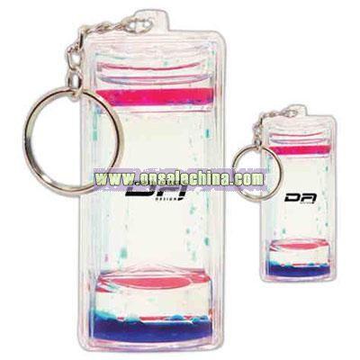 Liquid timer keychain