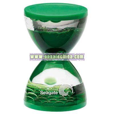 Mini hourglass liquid timer