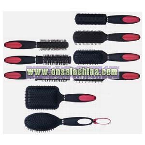 Hair Brush with Double Mirror Handle