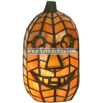 Tiffany Jack-O-Lantern Accent Lamp