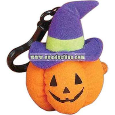 Halloween pumpkin figure with backpack clip