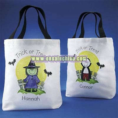 Personalized Halloween Character Tote Bag