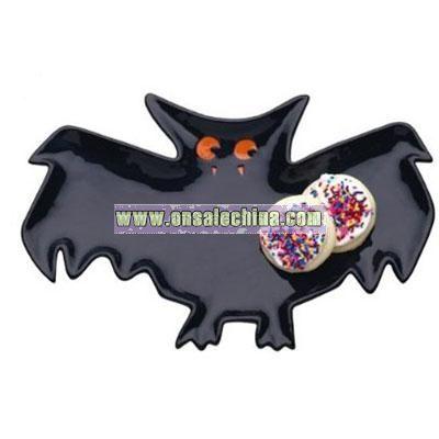 Haunted House Bat Shaped Platter