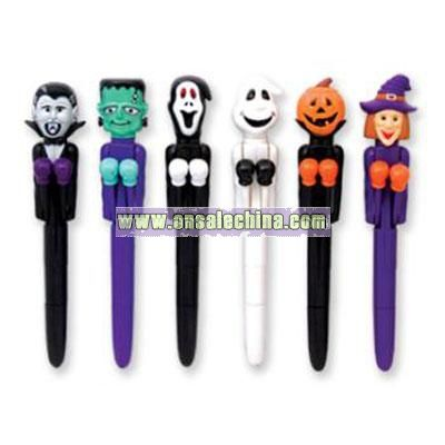 Halloween Punch Pens w/Light-up Eyes & Display