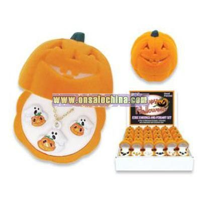 Lead Safe - Pumpkin Box - Necklace & Earring Set