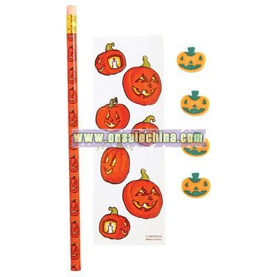 Pumpkin Stationery Set