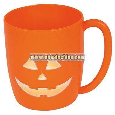 Halloween Plastic Jack-O Lantern Mug