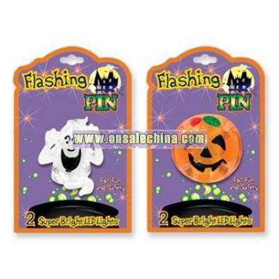 Flashing Halloween Pin