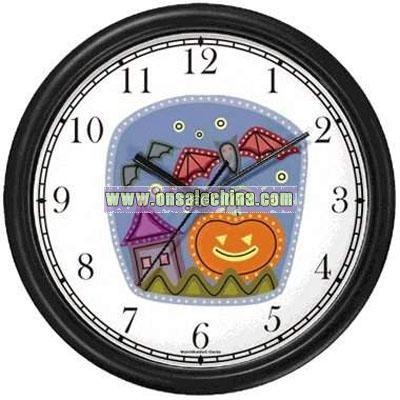 Halloween Gift Clock - Jack-o-Lantern
