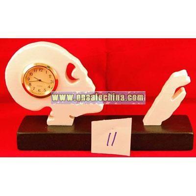 New handcrafted skeleton halloween clock