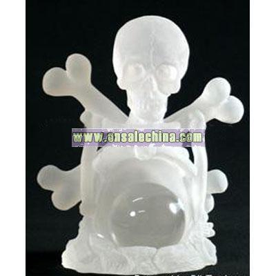 Halloween crafts of luminous Skeleton