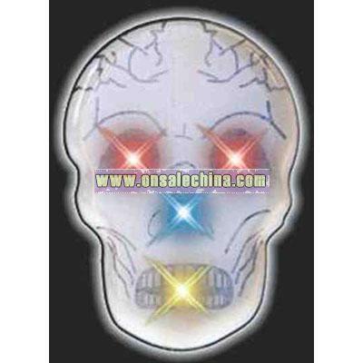 Blank color changing skull flashing pin
