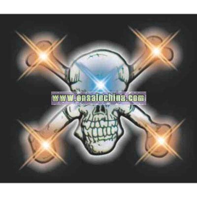 Pirate Skull Flashing Pin