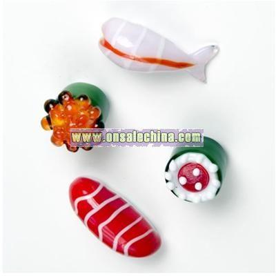 Glass Sushi Fridge Magnets
