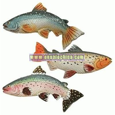 Single, Colorful Fish Fridge Magnets 4