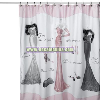 Captivating Dressed To Thrill Shower Curtain
