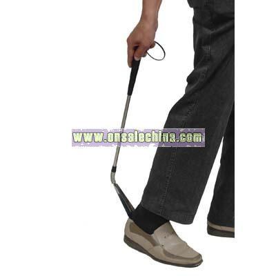 Shoe customization on long shoe horn
