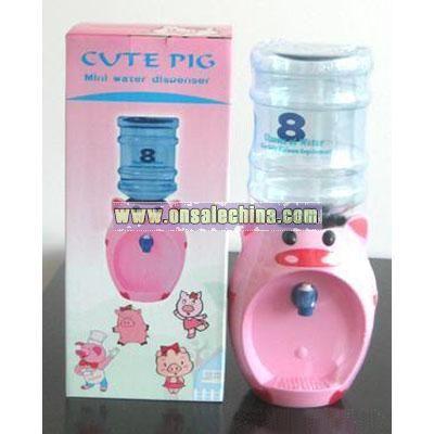 Cute Pig mini water dispenser