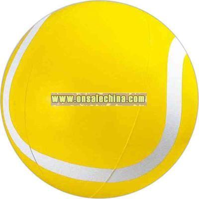 Inflatable yellow tennis ball