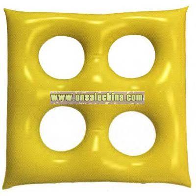 Inflatable square shape cushion