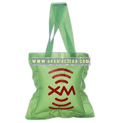 Inflatable tote bag