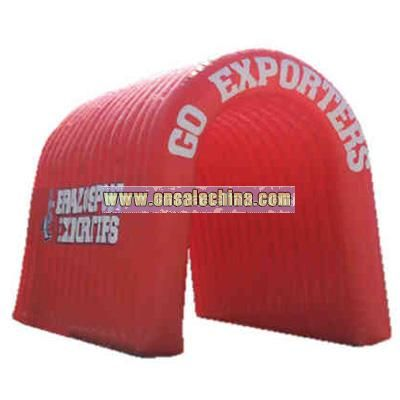 Custom cold air giant inflatable run through simple tunnel