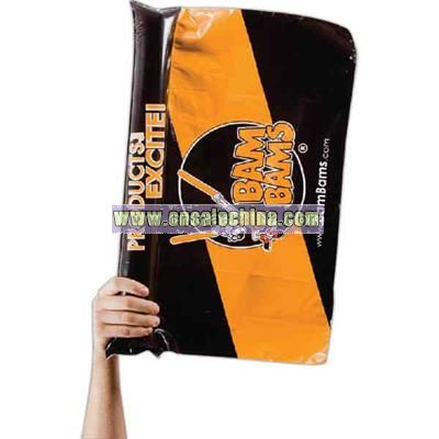 Flag with inflatable handle