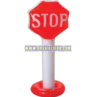 Stop sign inflatable