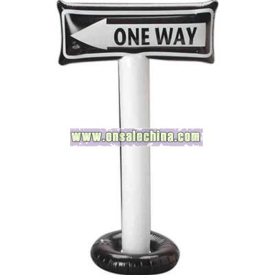One way sign inflatable
