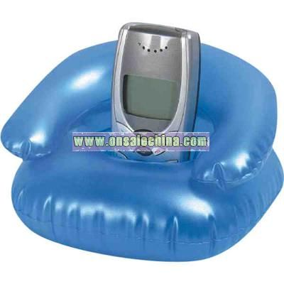 Inflatable transparent sofa shape cell phone stand