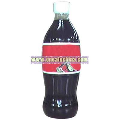 Air sealed balloon inflatable in the shape of soda bottle