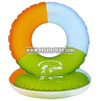 Heavy vinyl inflatable swim ring