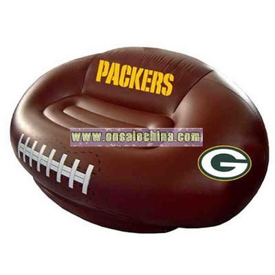 Inflatable football tailgating sofa chair couch