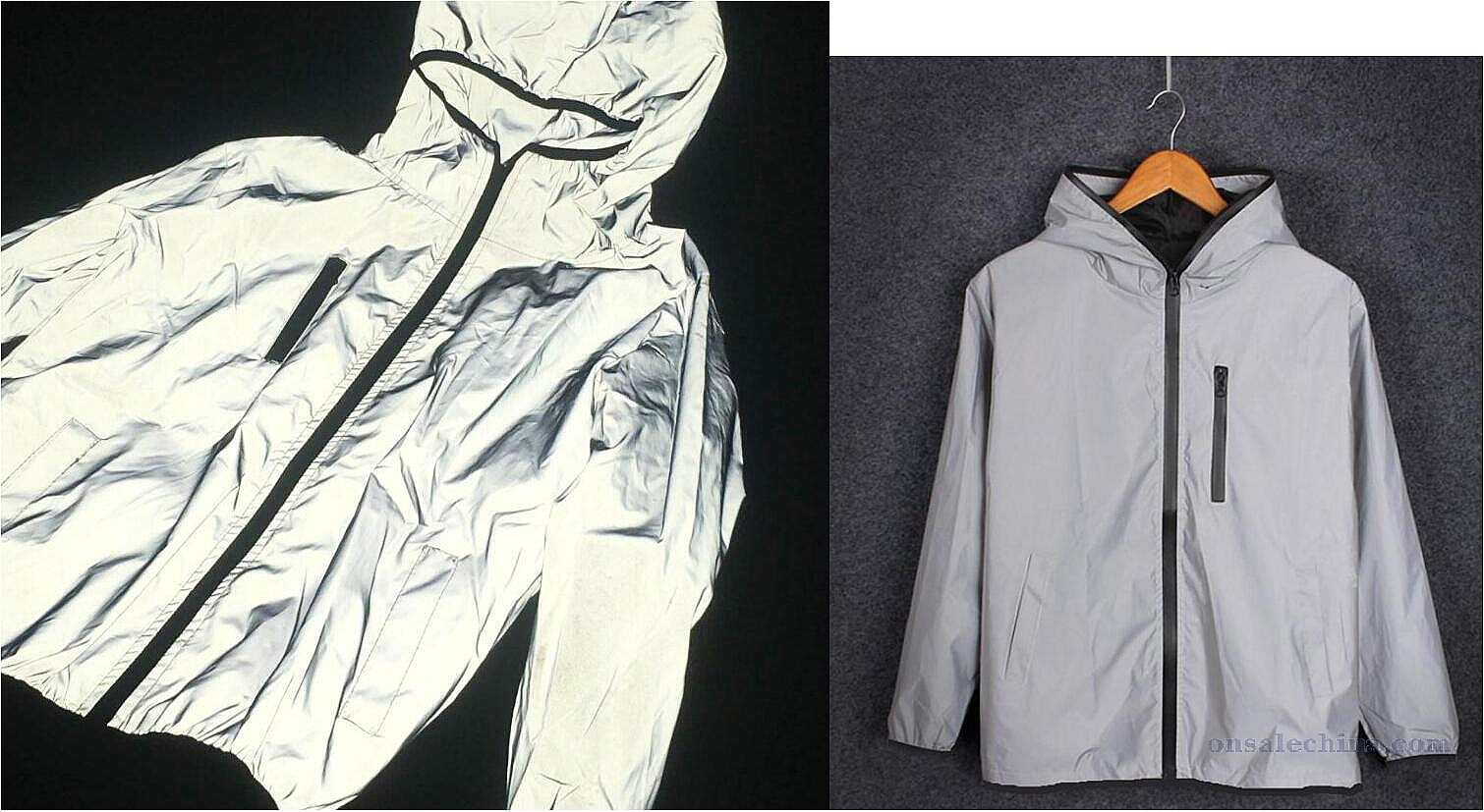 Refective windproof jacket