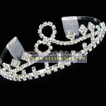 Party Tiara with Rhinestones