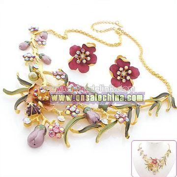Rhinestone Fashion Jewelry Set