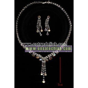 Fashion Rhinestone Necklace Set
