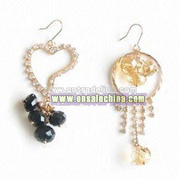 Fashionable Glass Beads Earring
