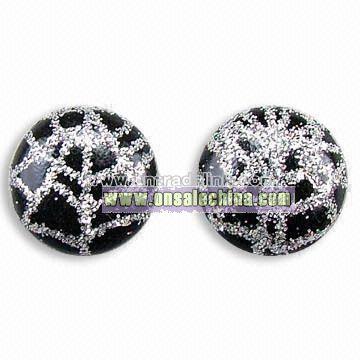 Fashionable PVC Leather Earrings