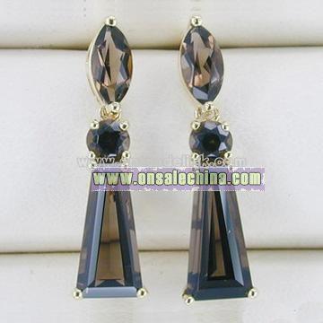 10k Gold Amethyst Earrings