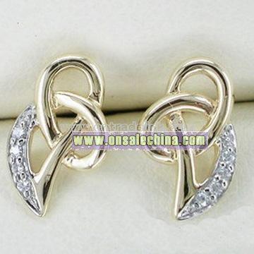 10k Gold Diamond Earrings