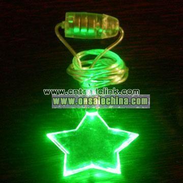 LED Necklace For Shape Pentagram