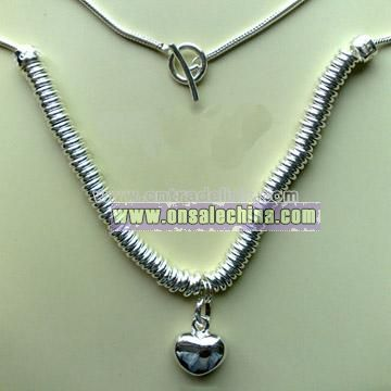 925 Silver Necklace with Heart