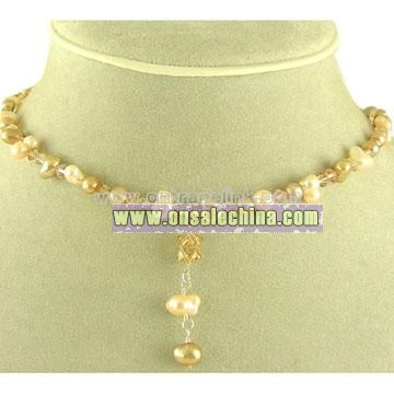 Pearl& Crystal Necklace