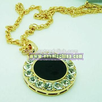 Gold-Plated Crsytal Necklace