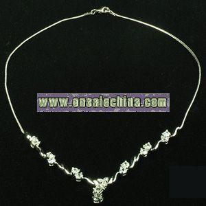 Bronze Necklace with Gemstone
