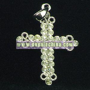 Fashion Cross Pendant with Gemstone