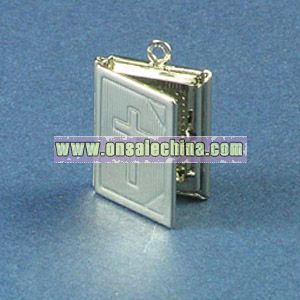 Bible Shaped Pendant with Photo Frame Inside